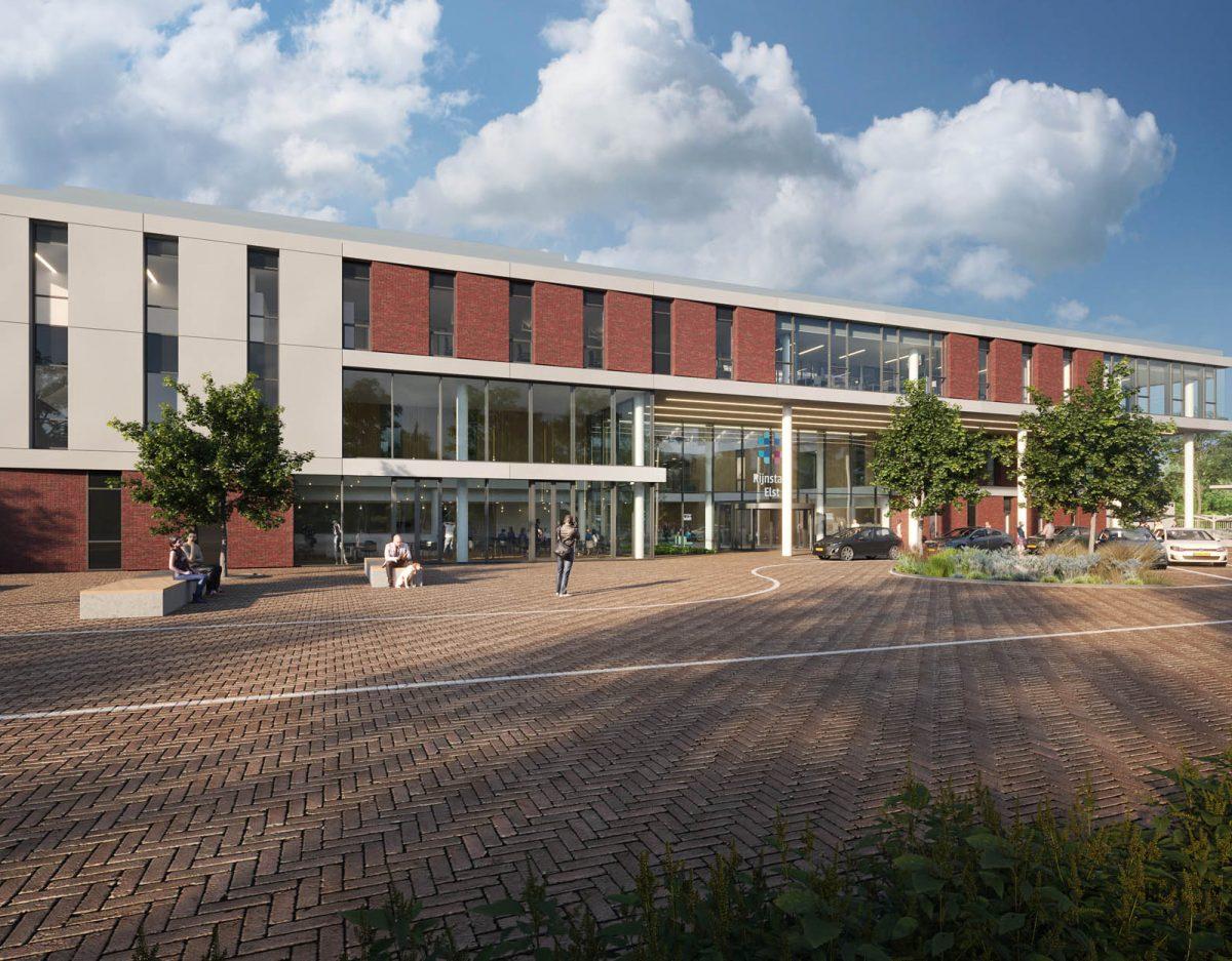 De voorkant van het Rijnstate ziekenhuis in Elst